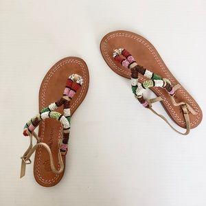 5285a22403fbe mariparmi Shoes - Maliparmi rainbow beading sandals 6